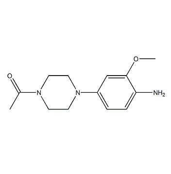 2-Methoxy-4- (N-asetil-piperazin-1-il) aniline CAS 1021426-42-5