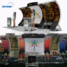Detian Offer exhibition booth material tension fabric display trade show display booth