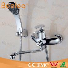 Luxe en laiton dans-mural bain douche mitigeur robinets Inc tuyau et combiné chromé