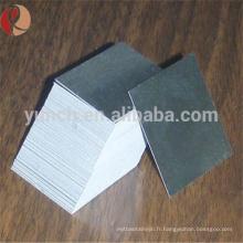 Feuille de tungstène pur recuit à 99,95% / plaque de tungstène / feuille de tungstène d'achemetal