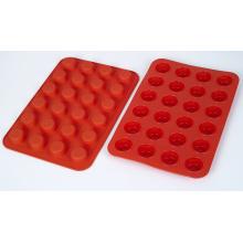 Hitzebeständige Küche Bakeware Food Grade Silikon Mini Muffin Pfannen mit 24 Löchern