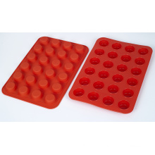 Heat Resistant Kitchen Bakeware Food Grade Silicone Mini Muffin Pans With 24 Holes