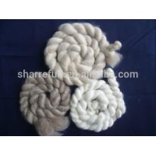 la cachemira de alta calidad remata blanco / gris claro / marrón con SGS