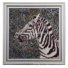 Atacado Handmade Shell Artes Cabeça de cavalo Shape Wall Imagem
