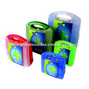 Plastic First-aid Kits/Boxes, Nylon Bag PP/ABS Box, CE, FDA, BSCI Marks, Any Colors Available