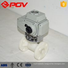 pvdf flange 20mm ball valve plastic