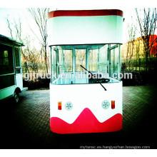 Populares Multi-función de Mini Food Truck / Fast Food Cart / Hot Dog Vending Van / comida rápida Mobile Kitchen Van