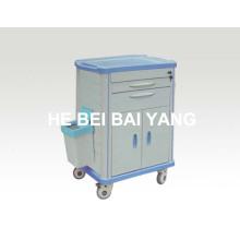 (B-70) Carro de la medicina del hospital para el cuidado de enfermería