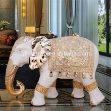 Fabrique en gros ornements grande résine thaïlande éléphant statues à vendre