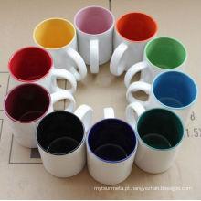 11 oz grés Inside Color Mug Sublimação revestimento líquido Canecas por atacado