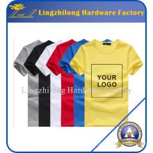 Camisetas personalizadas de publicidad en blanco del logotipo del logotipo de la impresión