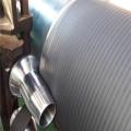 Blind drilled rubber covered Jumbo press roller