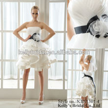 Vestido de casamento de noiva curto e sexy vestido de dama de honra