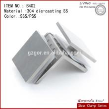 Abrazaderas de cristal soldables B402 / abrazadera de cristal del travesaño