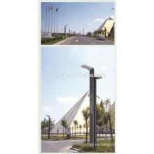 Brazo doble llevó el poste de iluminación de calle de acero con sensor de luz