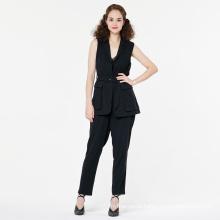 Pantalon de costume décontracté pour femme avec blet