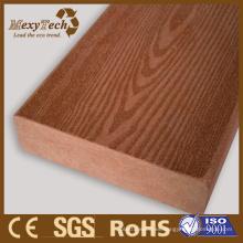 Cubierta sólida al aire libre WPC en textura de grano de color hermoso