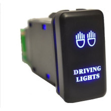 Car Custom 3 AMP 12V Purple LED Light Bar Push Button Switch with Wire