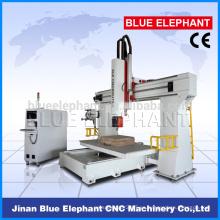 Alta precisión ELE-1224 5 ejes cnc enrutador, 5 eksen cnc enrutador máquina para muebles