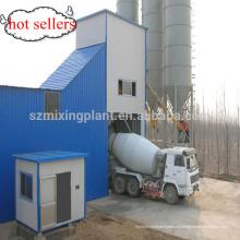 Super HZS60 Planta mezcladora seca de 100ton cemento de acero silo