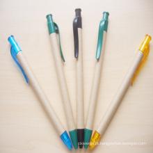 2015 caneta de bola de papel de grau superior com clip (xl-11508)