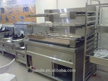 Commercial stainless steel charcoal chicken rotisserie for sale