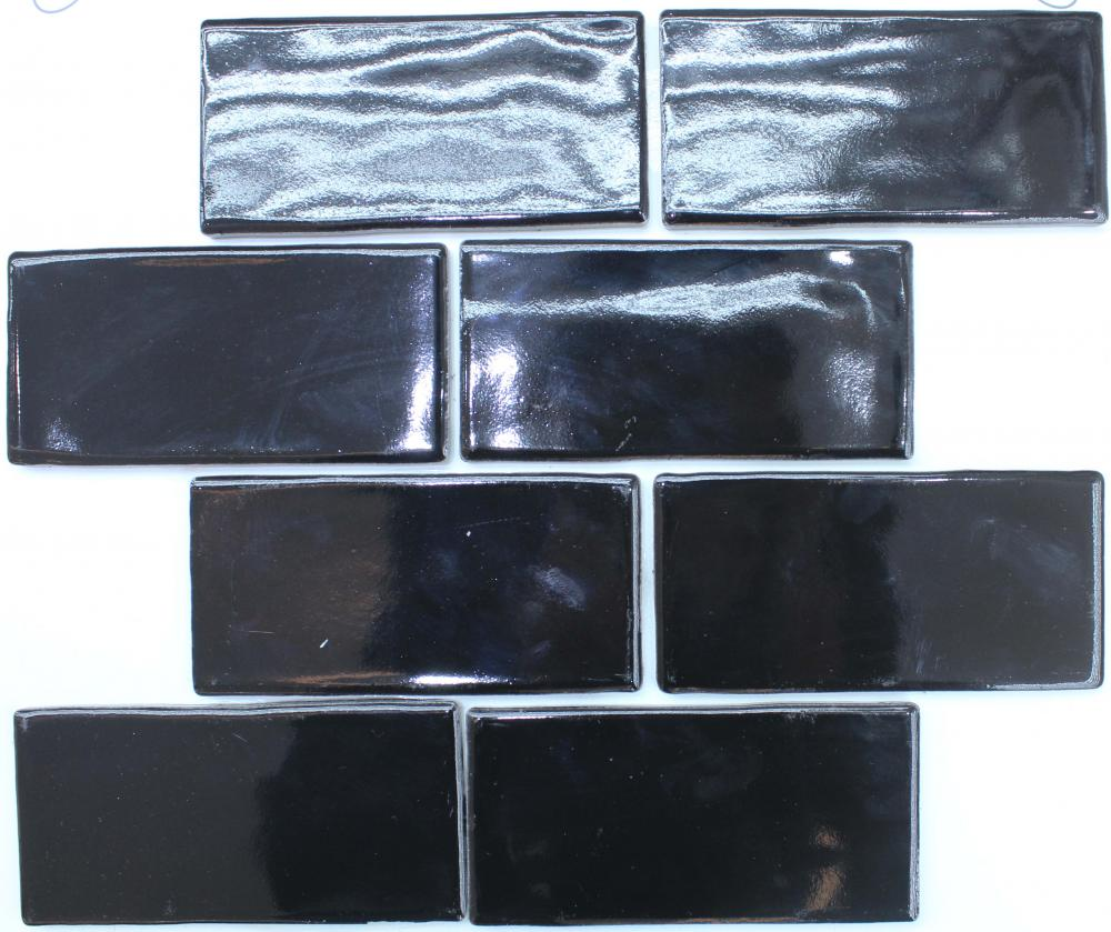 Black Brick Porcelain Mosaic Tile