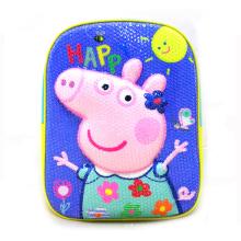 Promotional EVA Cartoon Kindergarten 3D Pig Animal School Bags Kids Children
