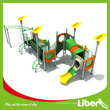 Matériel plastique utilisé Équipement de terrain de jeux résidentiel à vendre avec aire de jeux extérieure Barres parallèles