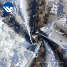 Tissu Imprimé Camouflage Noir et Blanc