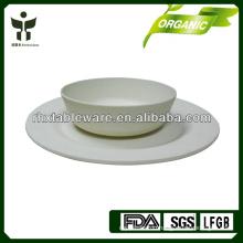 modern cheap bamboo fiber tableware set