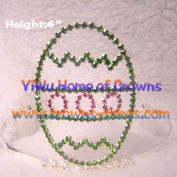 4 polegadas Páscoa ovos coroas coroas Festival de Páscoa