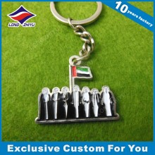 Custom UAE Metal Keychains Cheap Mini Keychain for Souvenir