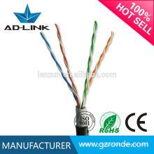 Câblage de réseau extérieur veste simple / câble double enveloppe utp cat5e dans les câbles de communication