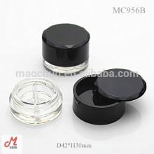 MC956B 2 color with rotating lid cosmetic eyeliner gel container/eyeliner gel case/eyeliner gel packaging/eyeliner gel pot