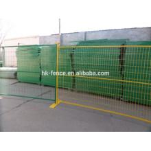 6ft ou 8ft canadien galvanisé ou enduit de poudre panneau de clôture temporaire de chantier de tube carré de 1 pouce pour la location ou la vente