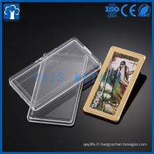 Paquet en carton acrylique en argent gaufré