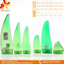 Verde e transparente Aloe vera forma pet garrafa