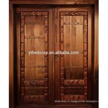 porte coupe-feu en bois en acajou et portes extérieures en bois