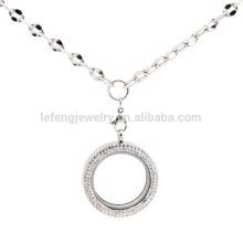 Hot venda de correntes de prata esterlina jóias descobertas, colar de corrente de 18k espessura