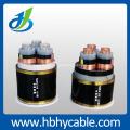 Cable de alimentación blindado de la cinta de acero de la chaqueta XLPE / PVC del voltaje medio