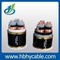 Câble d'alimentation blindé de bande d'acier de veste de moyenne tension de XLPE / PVC