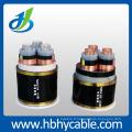Câble isolé de conducteur de cuivre 12 / 20kv XLPE