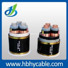 State Grid 10KV Overhead XLPE 3 * 120mm Cable de alimentación blindado de cobre