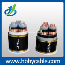 Câble d'alimentation blindé de cuivre de la grille XLPE 3 * 120mm de la grille 10KV d'état