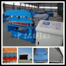 Baja Logam Bergelombang Panel Roll Forming Machine