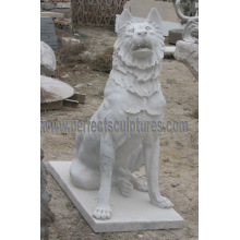 Stone Marble Dog Statue Animal for Garden Sculpture (SY-B162)