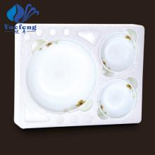 Ensemble de bol peu profond 7PCS-verrerie opale résistant à la chaleur