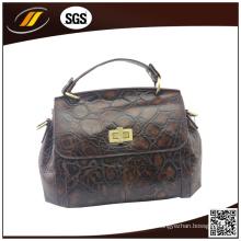 Venda Por Atacado boa qualidade couro genuíno senhora bolsa (hj0518)