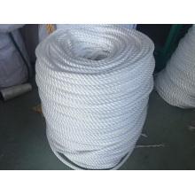 Corde d'amarrage de corde de polypropylène de corde de polyester de cordes de fibre de 3-Strand